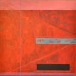 Blue line  Acrylic on canvas  150 x 150 cm