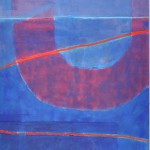 Taking a line for a walk 1  Acrylic on canvas  197 x 100 cm