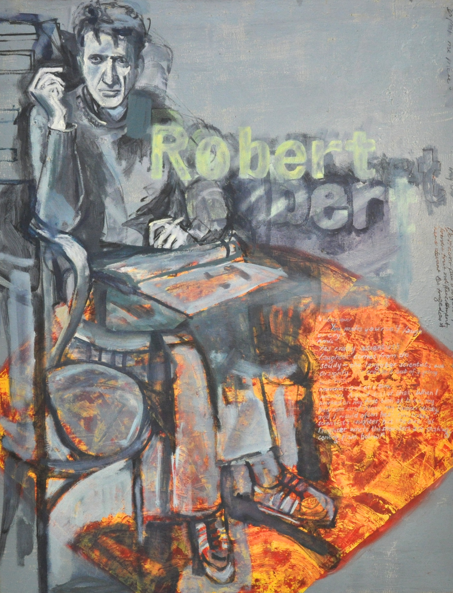 Robert de Niro senior  Oil on canvas  114 x 146 cm