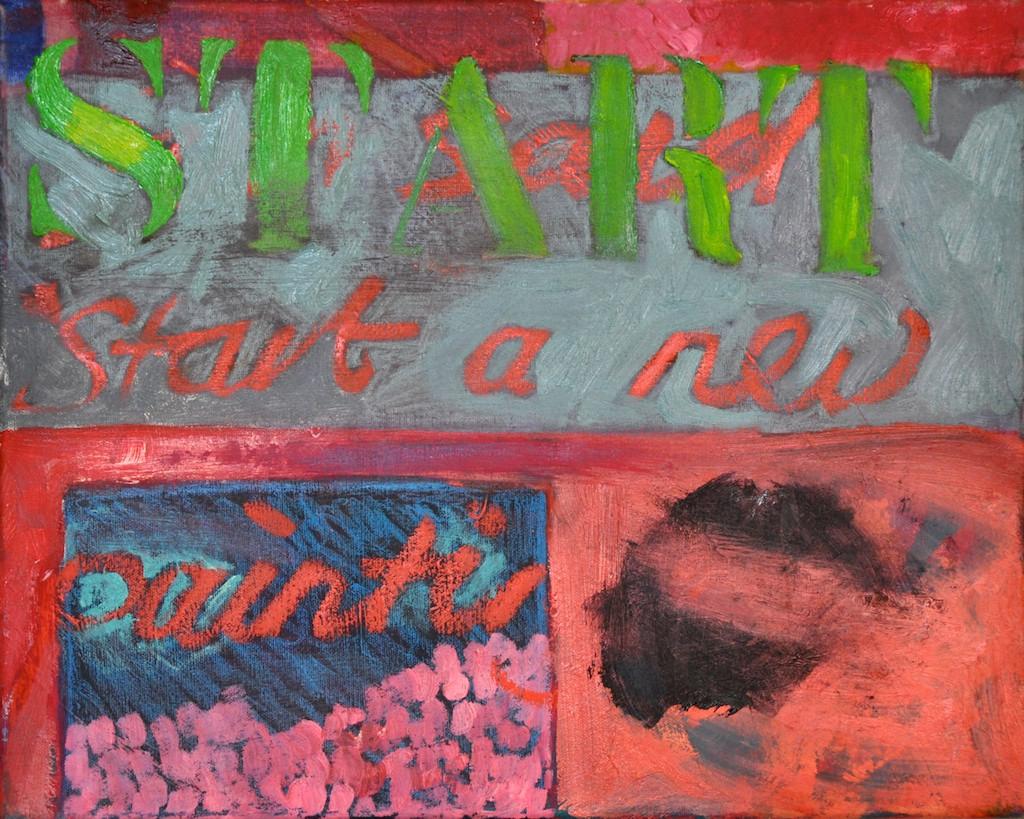 Start  Oil on canvas  40 x 50 cm