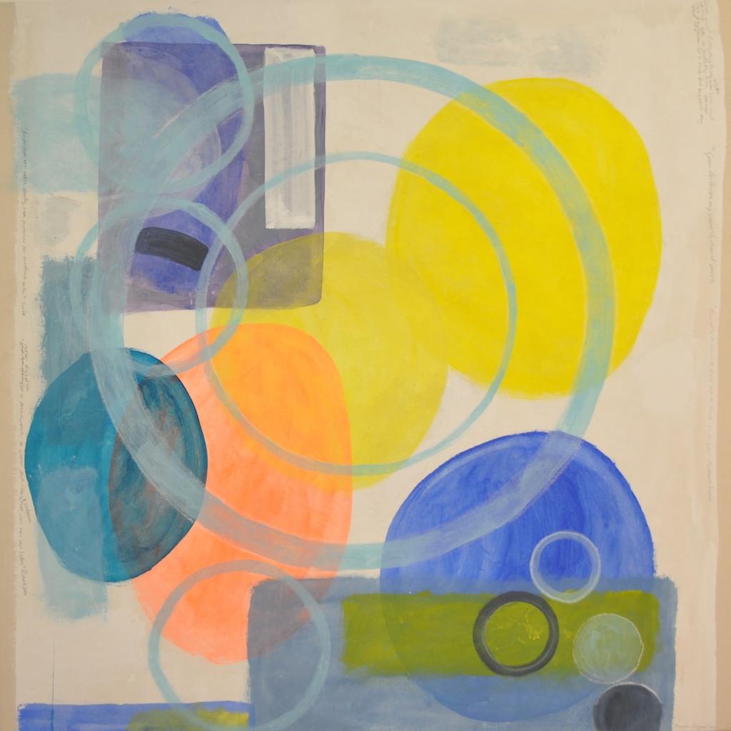 Lézardrieux  Acrylic on canvas  150 x 150 cm