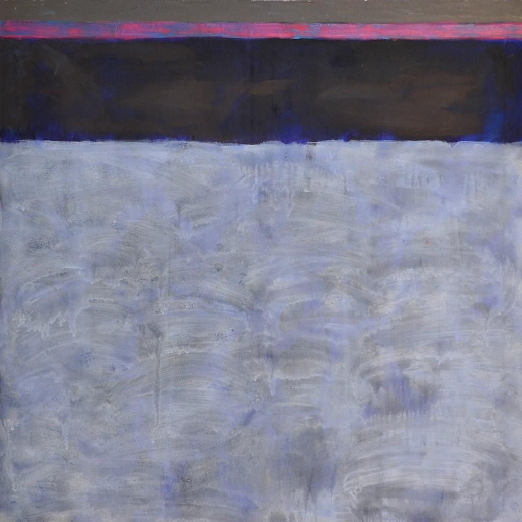 Barcelona blue  acrylic on canvas  100 x 100 cm