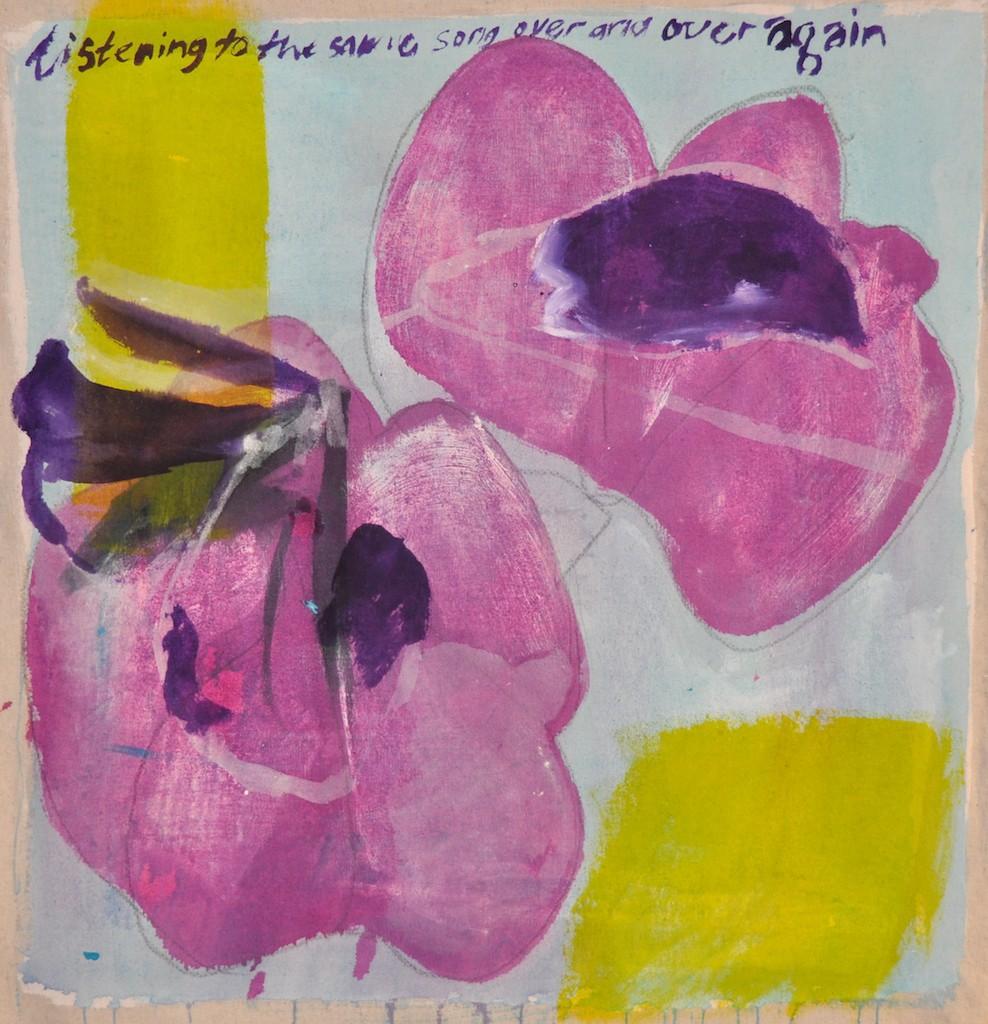Song  Acrylic on canvas  57 x 55 cm