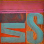 Wedded by the sea  Acrylic on canvas  50 x 50 cm