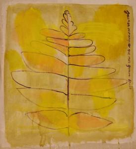 Fern  Acrylic on canvas  58 x 53 cm