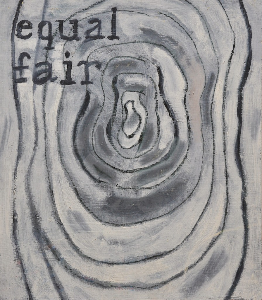 Equal  Oil on canvas  40 x 35 cm