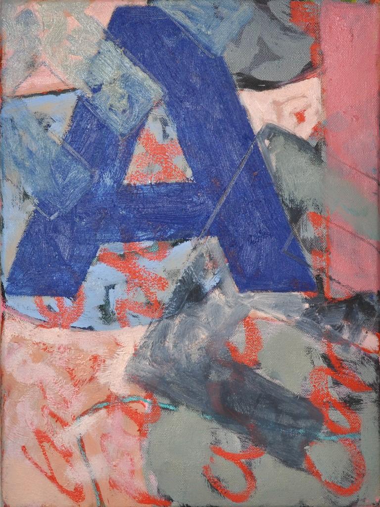 A  Oil on canvas  40 x 30 cm