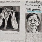 Bourgeois and Auden  Ink on paper  32 x 45 cm