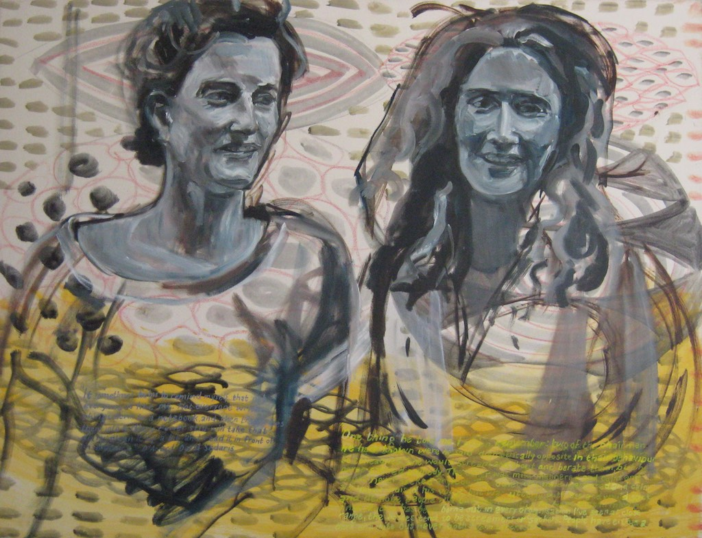 Em and I  Oil on canvas  89 x 116 cm