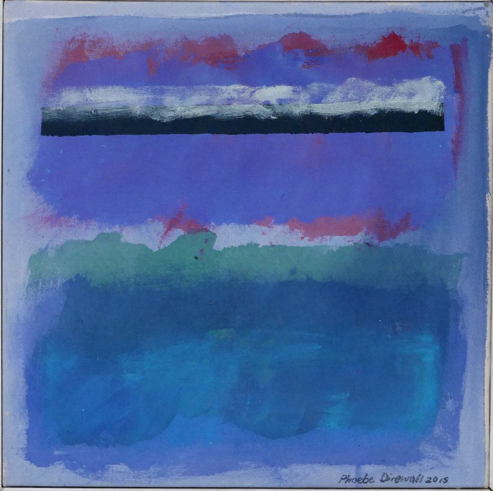 Phoebe Dingwall painting Blue wave