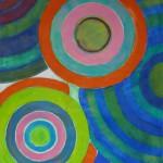 Phoebe Dingwall painting Orange cadmium