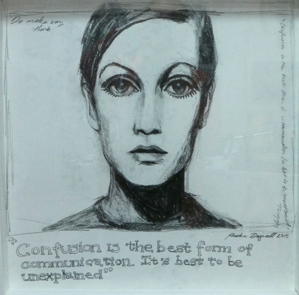 Phoebe Dingwall painting Twiggy communication