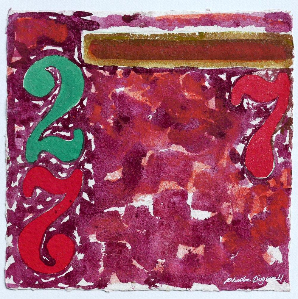 N°15 Watercolor on paper 25 x 25 cm