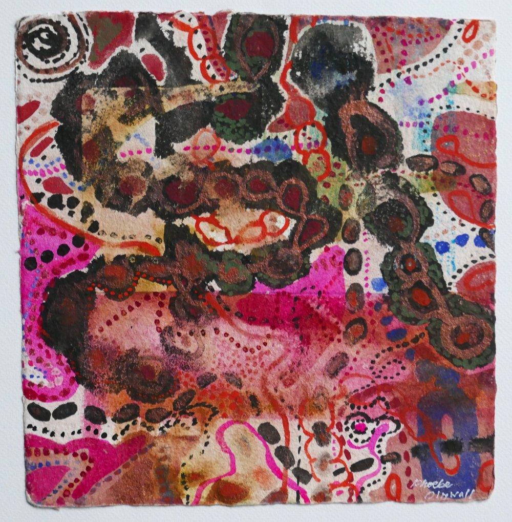 N°18 Watercolor on paper 25 x 25 cm