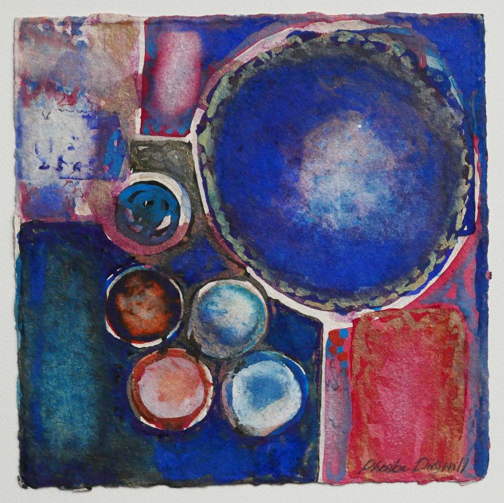 N°27 Watercolor on paper 25 x 25 cm
