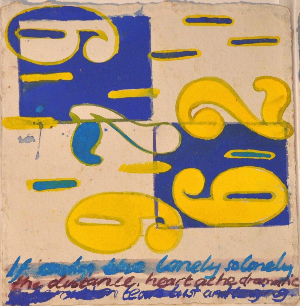N°33 Watercolor on paper 25 x 25 cm
