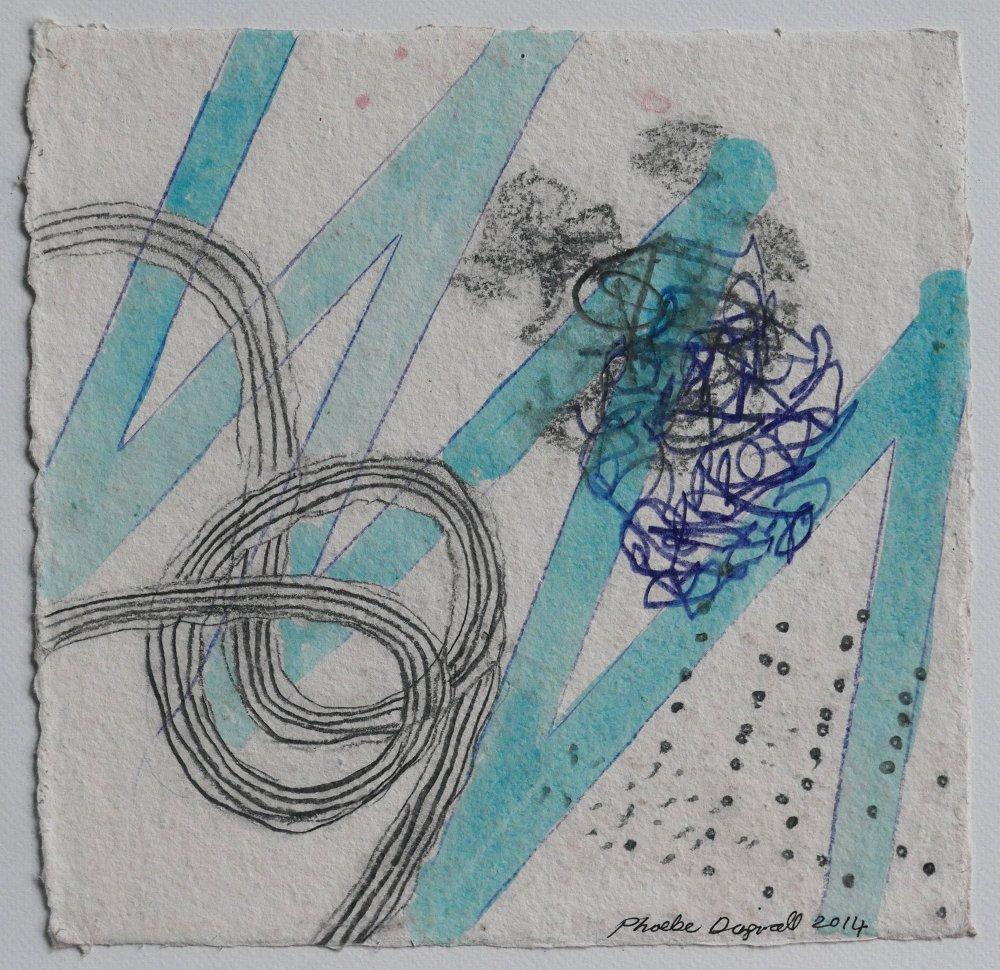 N°7 Watercolor on paper 25 x 25 cm