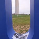 Washington Monument with U, USA