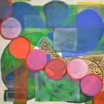 Path and petal  Acrylic on canvas  100 x 100 cm