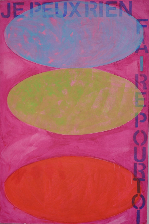 Je peux  Acrylic on canvas  150 x 100 cm