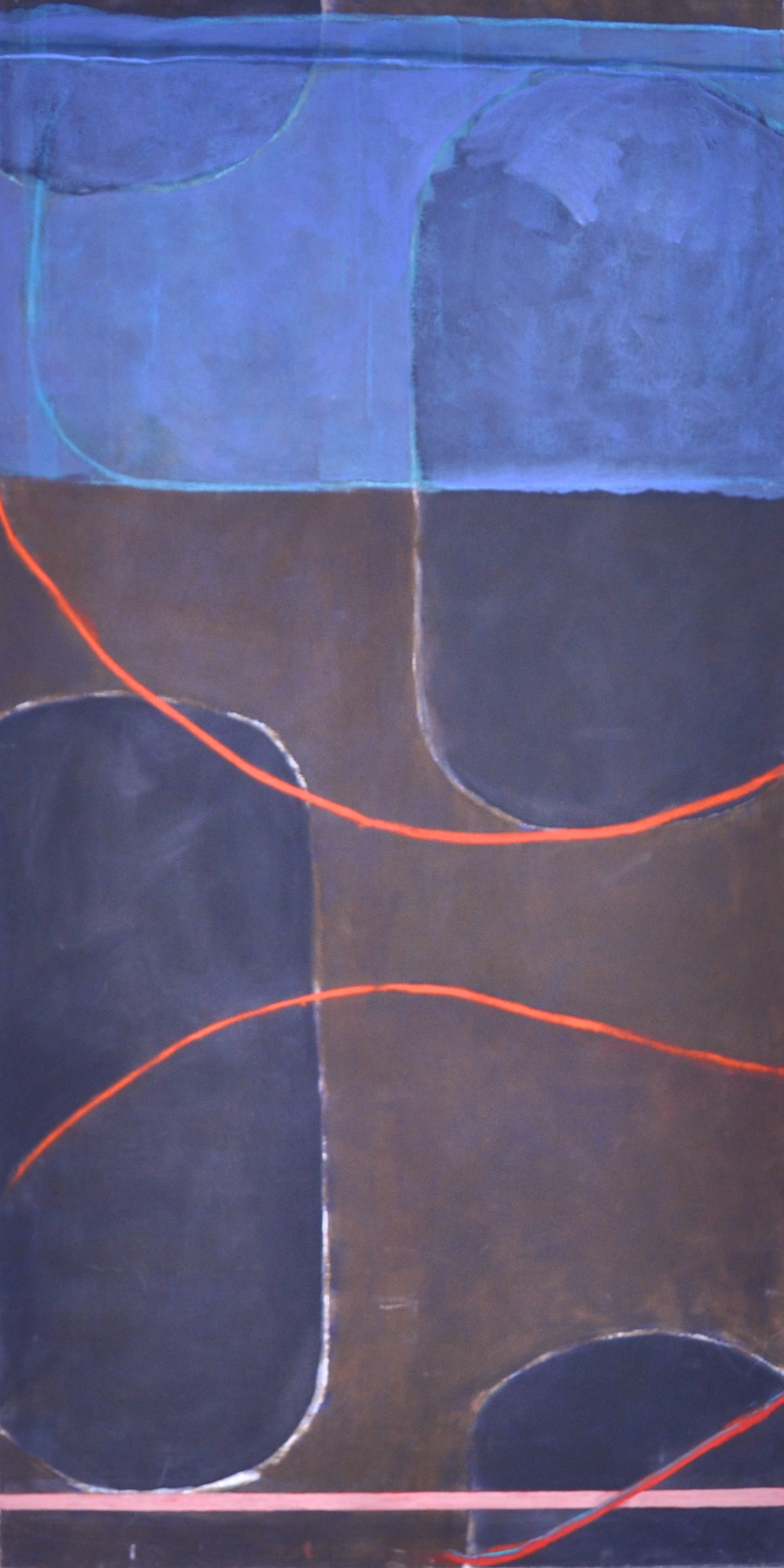 Taking a line for a walk 3  Acrylic on canvas  197 x 100 cm