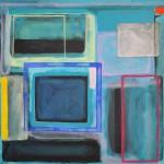 Orange square  Acrylic on canvas  100 x 100 cm