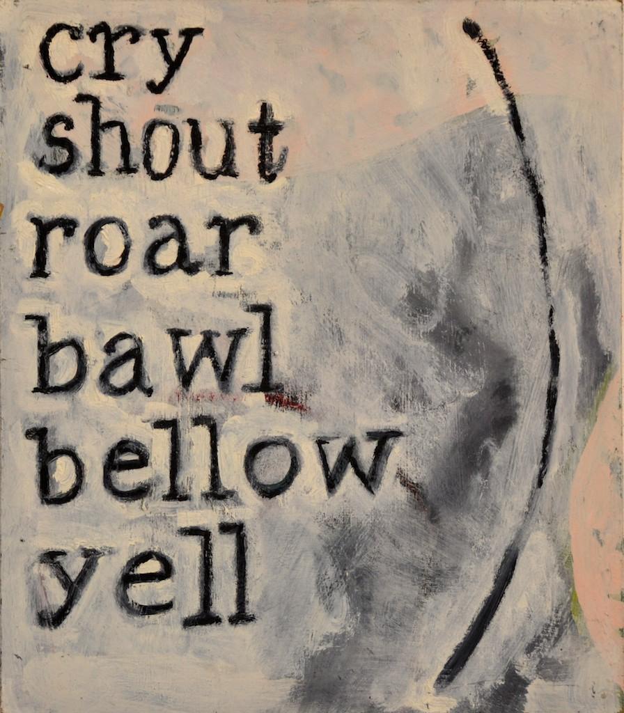 Roar  Oil on canvas  40 x 35 cm