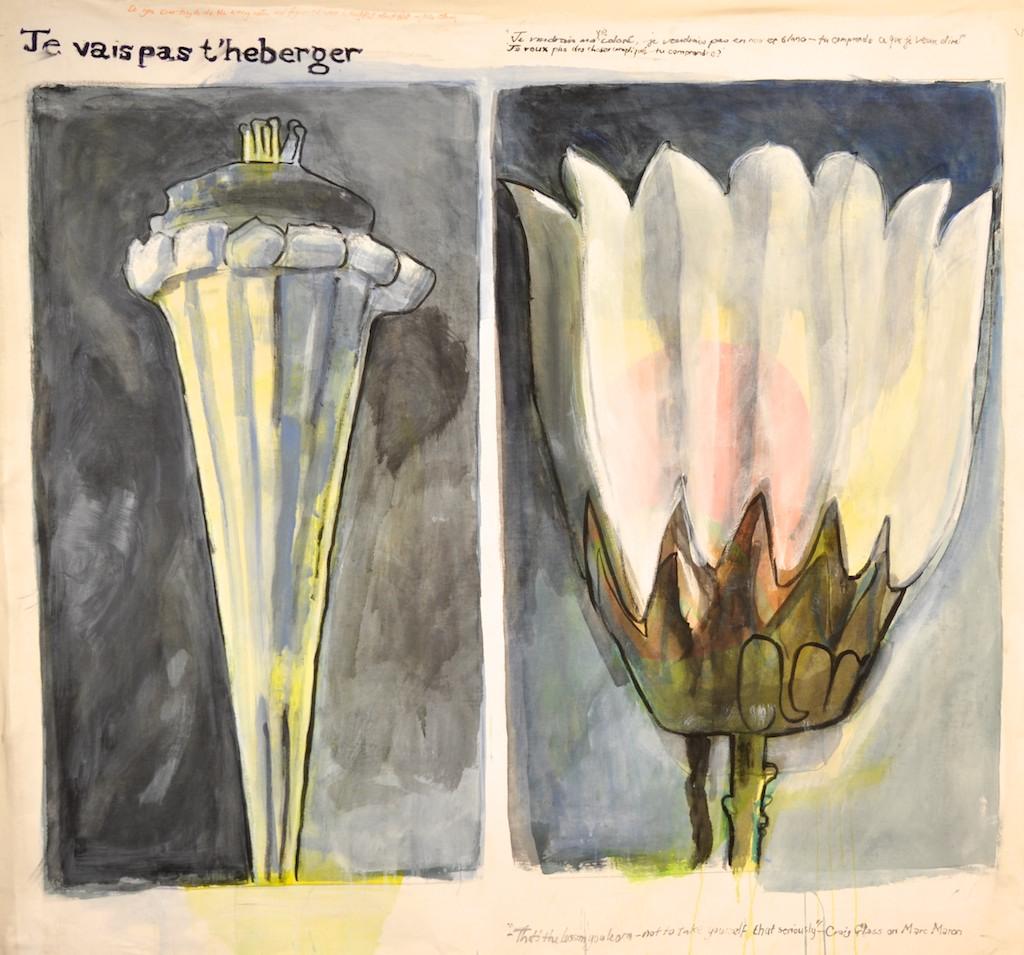Flowers 1  Acrylic on canvas  148 x 138 cm
