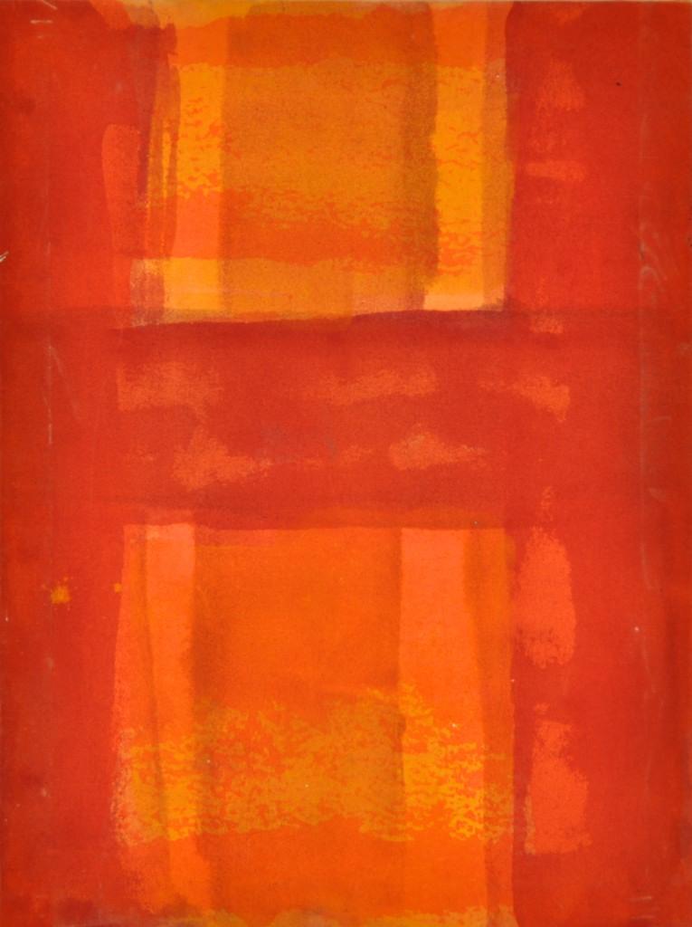 Orange  Acrylic on canvas  47 x 35,5 cm