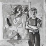 de Kooning  Ink on paper  37 x 32 cm