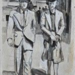 Tottenham court road  Ink on paper  45 x 32 cm