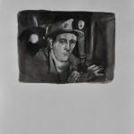 Torch light  Ink on paper  32 x 24 cm