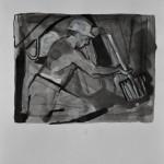 Coal mining  Ink on paper  32 x 24 cm