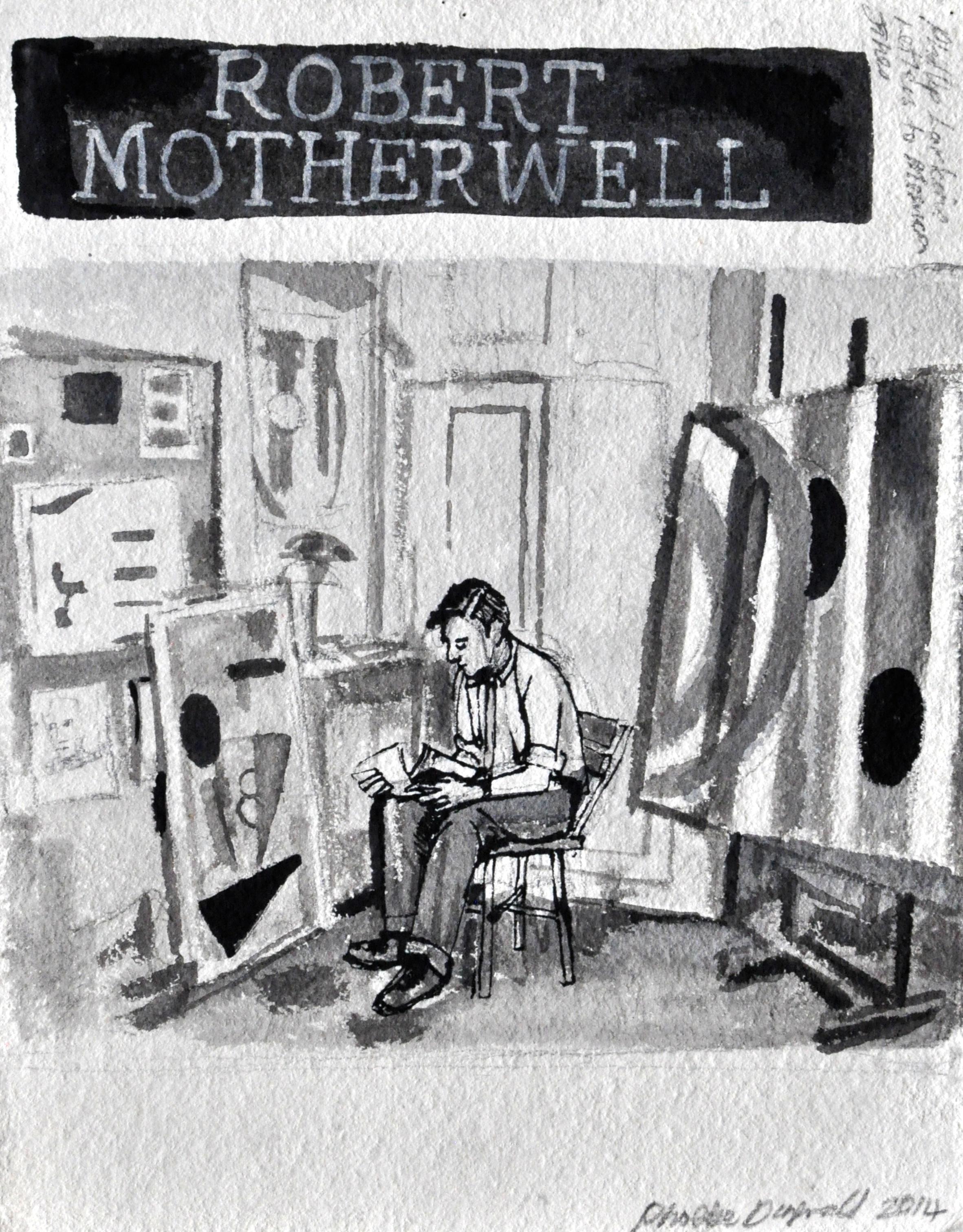 Robert Motherwell  Ink on paper  32 x 24 cm