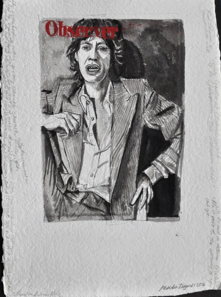 Jagger  Ink on paper  45 x 32 cm