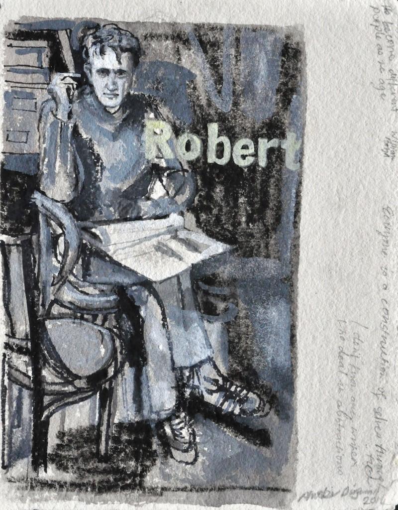 Robert  Ink on paper  32 x 24 cm