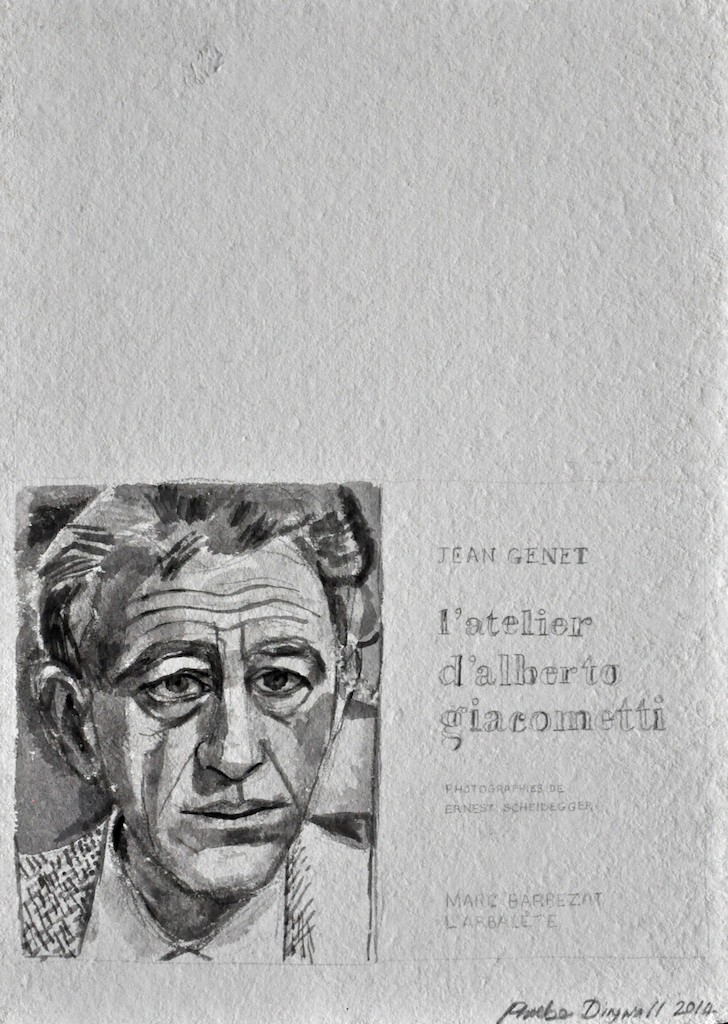 Giacometti  Ink on paper  45 x 32 cm