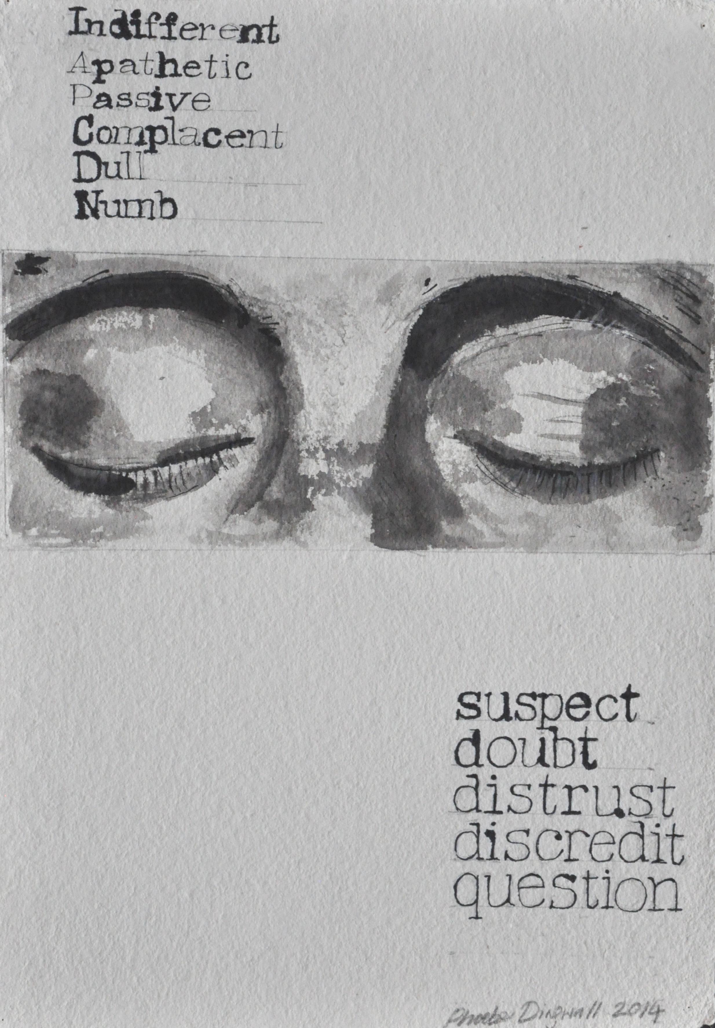 Trust  Ink on paper  45 x 32 cm