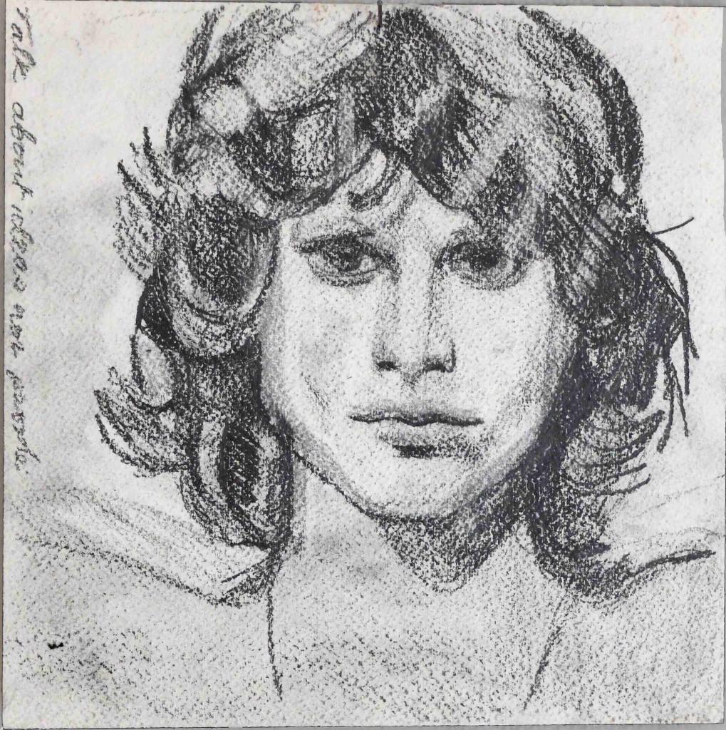 Jim talk  Pencil on paper  20 x 20 cm