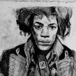 Jimi scarf  Pencil on paper 76 x 57 cm