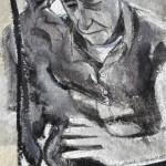 Phoebe Dingwall painting De Kooning sculpting