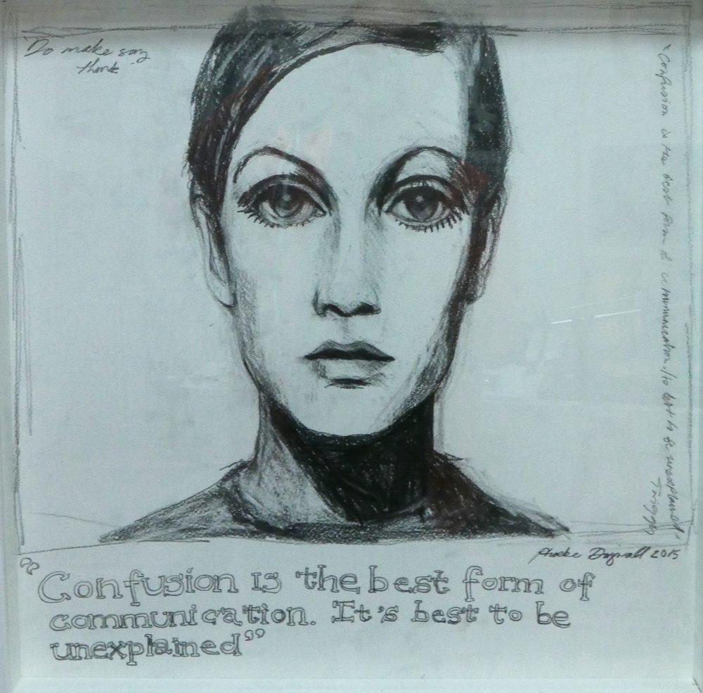 Phoebe Dingwall painting Twiggy communication