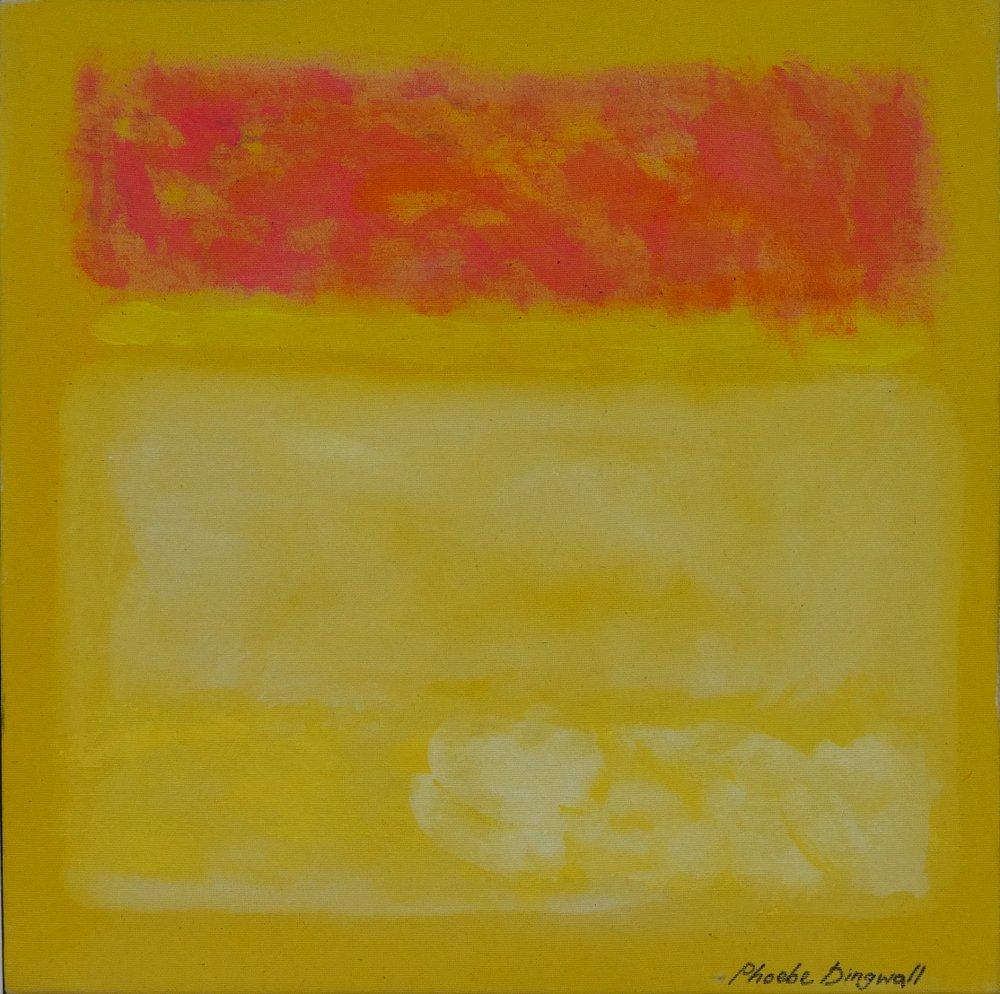 Phoebe Dingwall painting Yellow Haze