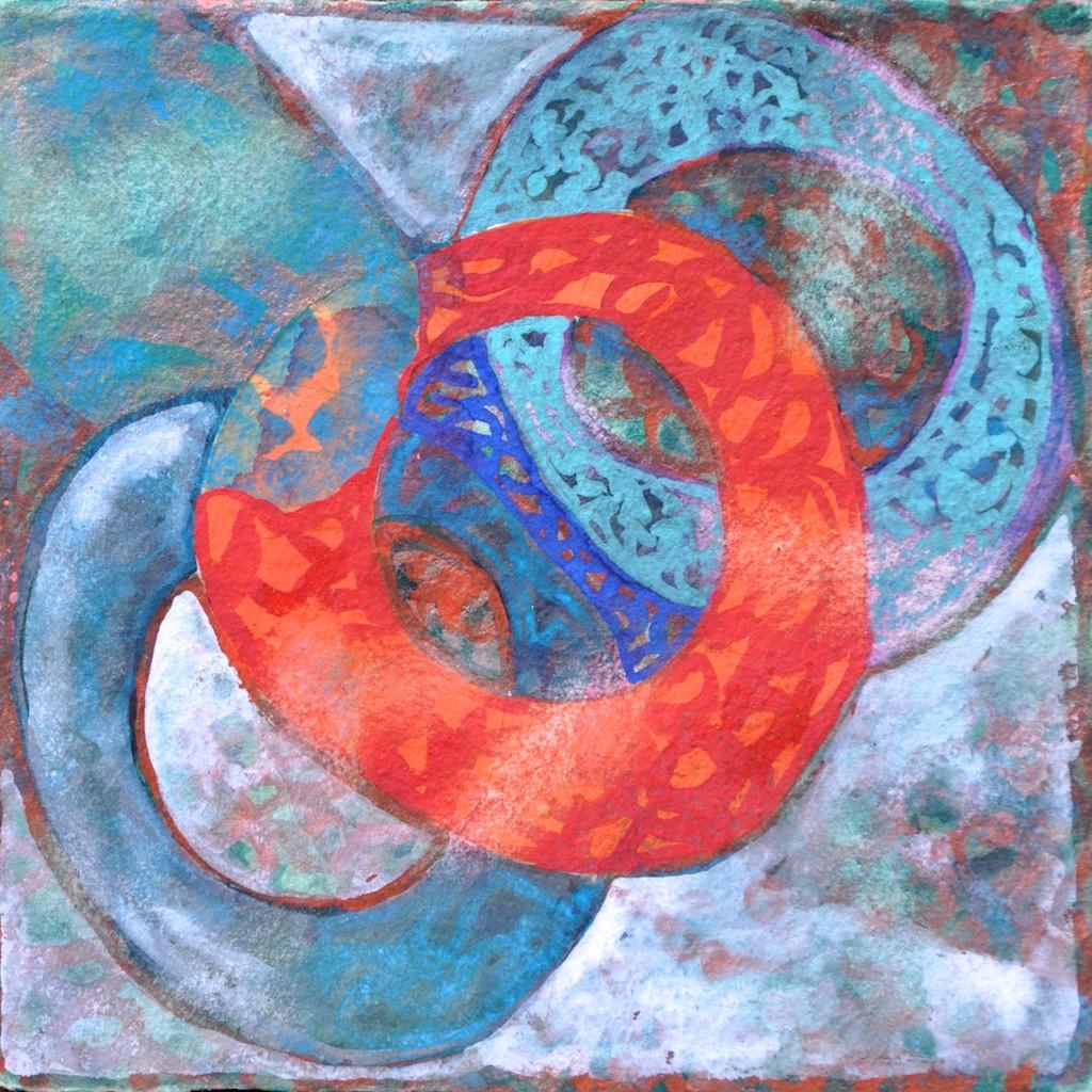 N°14 Watercolor on paper 25 x 25 cm