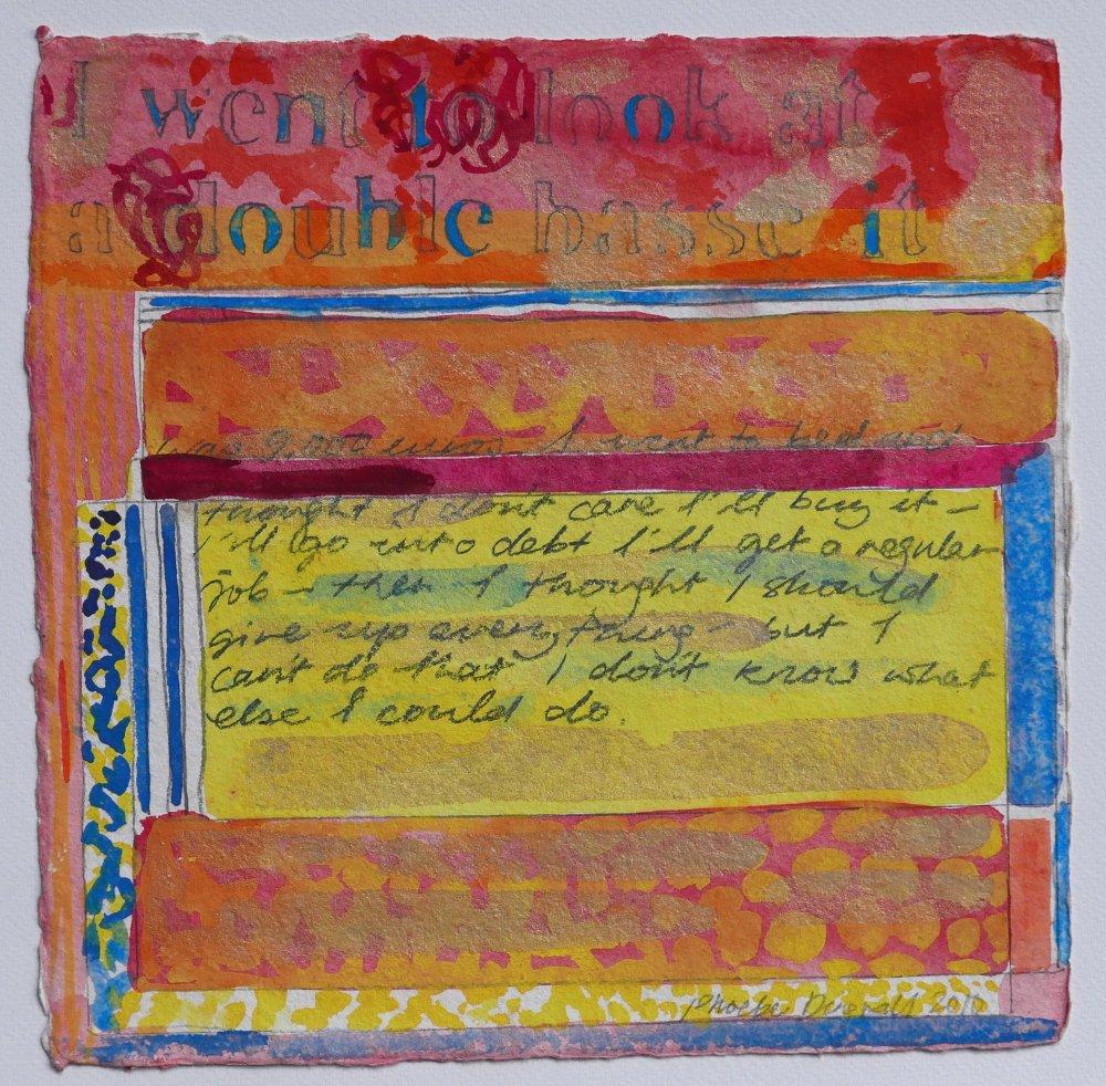 N°16 Watercolor on paper 25 x 25 cm