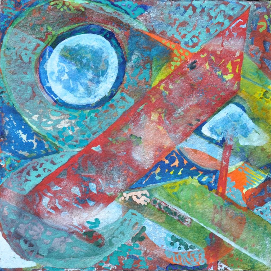 N°17 Watercolor on paper 25 x 25 cm