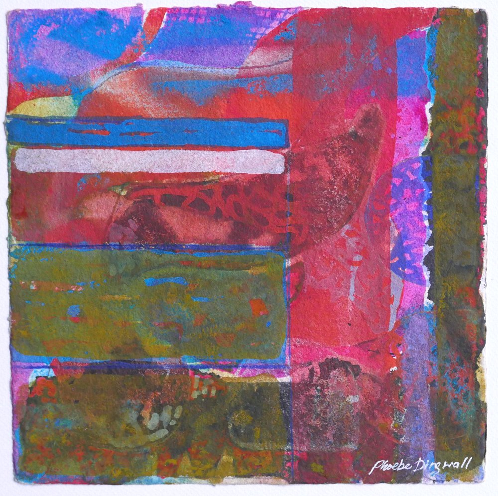 N°21 Watercolor on paper 25 x 25 cm