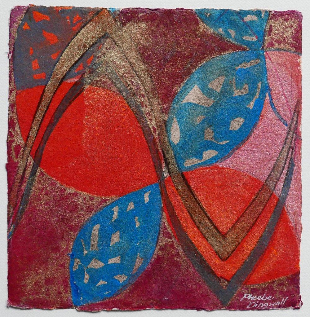 N°23 Watercolor on paper 25 x 25 cm