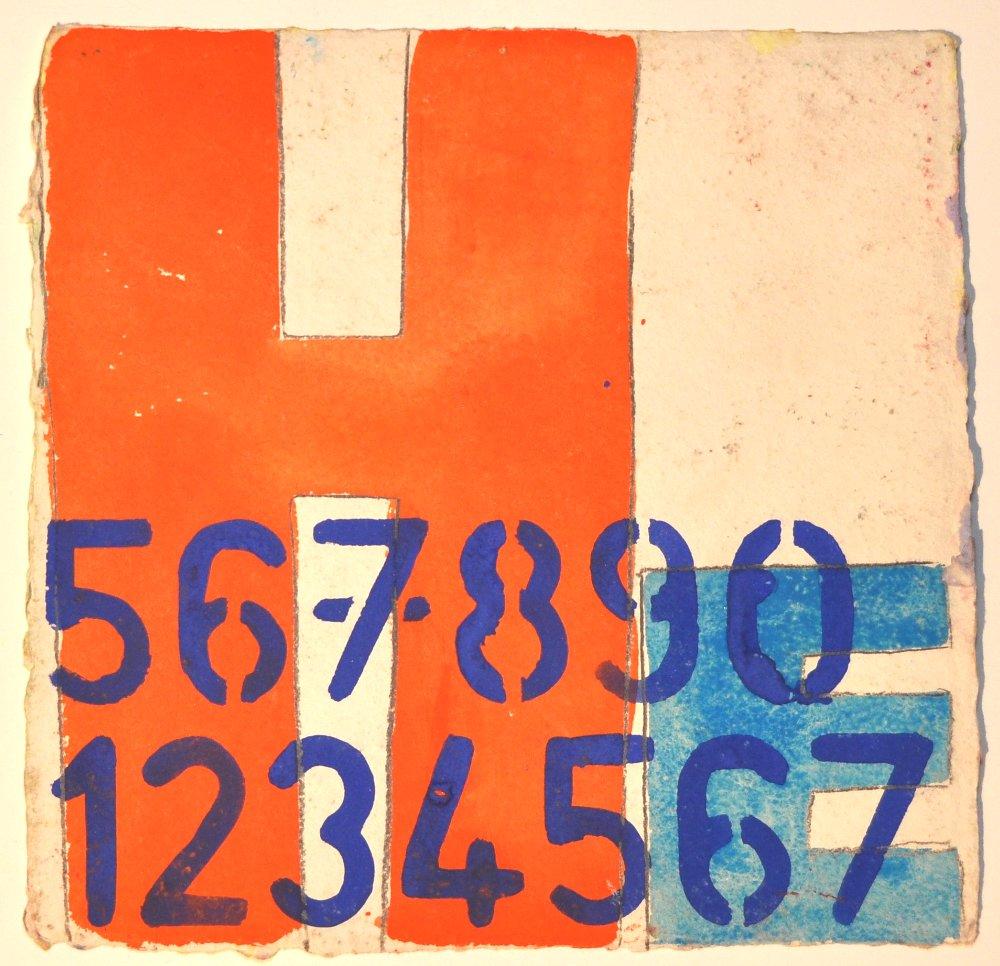 N°29 Watercolor on paper 25 x 25 cm
