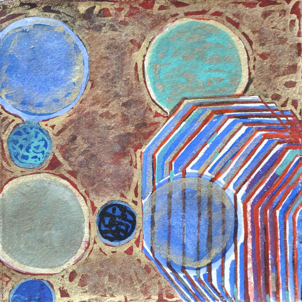 N°5 Watercolor on paper 25 x 25 cm